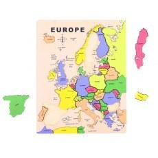 EDUKACYJNA UKŁADANKA MAPA EUROPY BIGJIGS TOYS BJ306