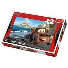 TREFL PUZZLE 160 ELEMENTOW DISNEY CARS ZLOMEK I FINN