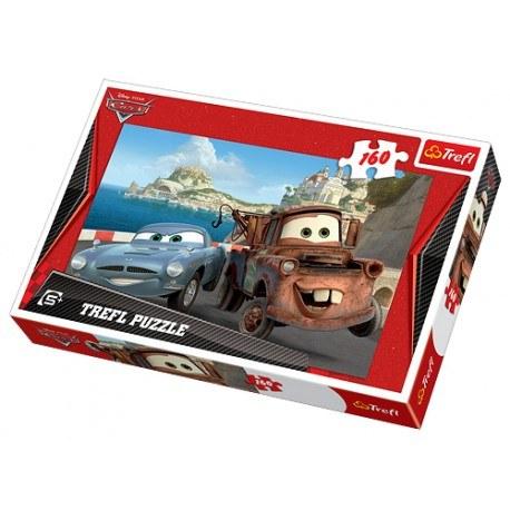 TREFL PUZZLE 160 ELEMENTÓW DISNEY CARS ZŁOMEK I FINN
