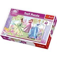 TREFL PUZZLE 60 ELEMENTOW DISNEY PRINCESS SPACER PO OGRODZIE