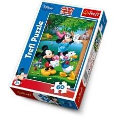 TREFL PUZZLE 60 ELEMENTOW MICKEY MOUSE PIKNIK Z DONALDEM