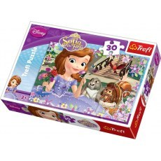 TREFL PUZZLE 30 ELEMENTOW SOFIA THE FIRST PACHNACE ROZE