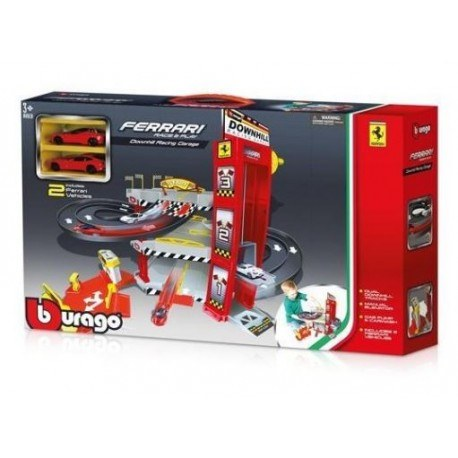 BBURAGO FERRARI DOWNHILL RACING GARAGE 18-56096
