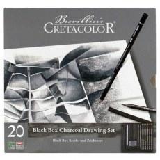 CRETACOLOR ZESTAW DO RYSOWANIA BLACK BOX CHARCOAL DRAWING SET 40030