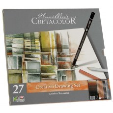 CRETACOLOR ZESTAW DO SZKICOWANIA CREATIVO DRAWING SET 40031