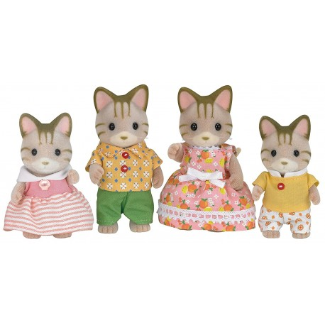 SYLVANIAN FAMILIES STRIPED CAT FAMILY 5180