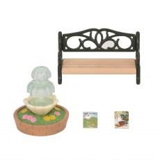 SYLVANIAN FAMILIES BENCH & FOUNTAIN 4535