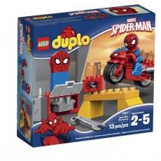 KLOCKI LEGO DUPLO MOTOCYKLOWY WARSZTAT SPIDER-MANA 10607