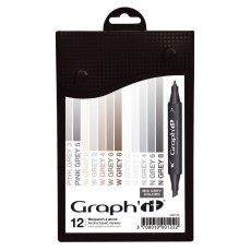 GRAPH'IT MARKER ZESTAW 12 PROMARKEROW MIX GREY COLORS GI00122
