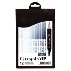 GRAPH'IT MARKER ZESTAW 12 PROMARKEROW COOL GREY COLORS GI00128