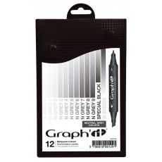GRAPH'IT MARKER ZESTAW 12 PROMARKEROW NEUTRAL GREY COLORS GI00129