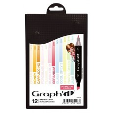 GRAPH'IT MARKER ZESTAW 12 PROMARKEROW CHARACTERS COLORS GI00133