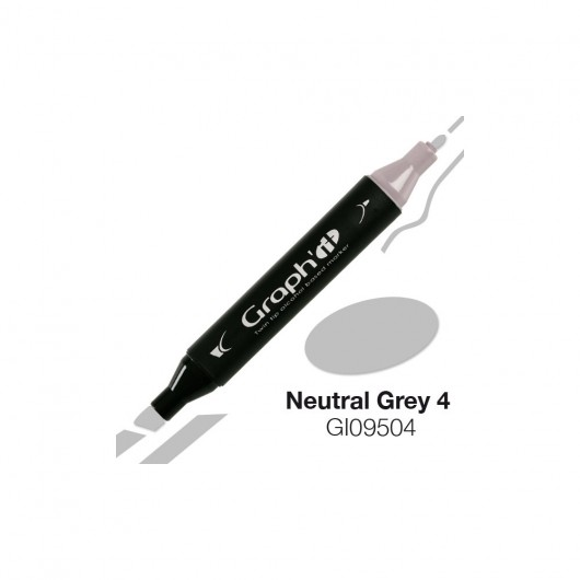 GRAPH'IT MARKER ALKOHOLOWY PROMARKER 9504 NEUTRAL GREY 4