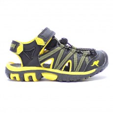 SHOES KANGAROOS OSATO JET BLACK/SUN YELLOW