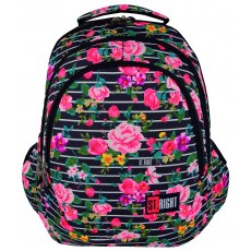 BACKPACK ST.RIGHT LIGHT ROSES BP-06