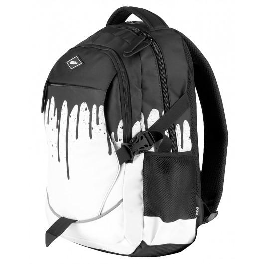 176156caf2d79 Easy Flow- Plecak szkolny Black   White 923923