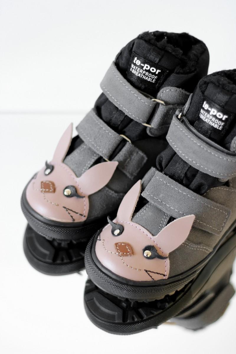 Mrugala Trzewiki Mali Bunny Grey 7151 8 08