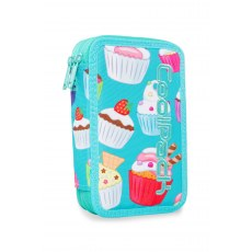 DOUBLE DECKER PENCIL CASE WITH EQUIPMENT COOLPACK JUMPER 2 CUPCAKES (A66203)