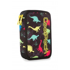 DOUBLE DECKER PENCIL CASE WITH EQUIPMENT COOLPACK JUMPER 2 DINOSAURS (A66204)
