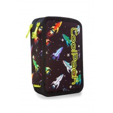 DOUBLE DECKER PENCIL CASE WITH EQUIPMENT COOLPACK JUMPER 2 ROCKETS (A66207)