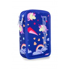 DOUBLE DECKER PENCIL CASE WITH EQUIPMENT COOLPACK JUMPER 2 UNICORNS (A66208)