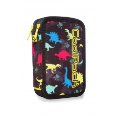 TRIPLE DECKER PENCIL CASE WITH EQUIPMENT COOLPACK JUMPER 3 DINOSAURS (A67204)