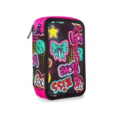 TRIPLE DECKER PENCIL CASE WITH EQUIPMENT COOLPACK JUMPER 3 EMOTICONS (A67205)
