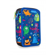 TRIPLE DECKER PENCIL CASE WITH EQUIPMENT COOLPACK JUMPER 3 FUNNY MONSTERS (A67206)