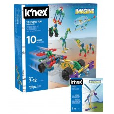K'NEX IMAGINE 10 MODEL BUILDING FUN SET 17009