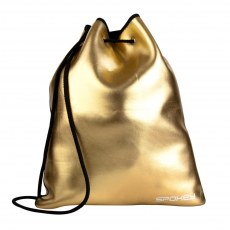 BACKPACK WITH STRETCHES SPOKEY PURSE GOLD