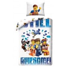 POŚCIEL BAWEŁNIANA DZIECIĘCA 140 X 200 CM LEGO MOVIE LM-2013BL