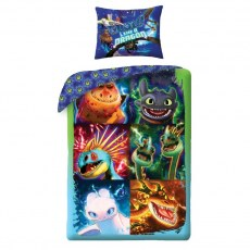 SINGLE DUVET SET 140 X 200 CM HOW TO TRAIN YOUR DRAGON HTTD-604BL