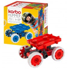 CONSTRUCTION BLOCKS KORBO HUMMER 25 RED