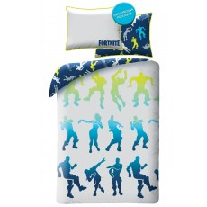SINGLE DUVET SET 140 X 200 CM FORTNITE DANCE EMOTE FTN-009BL