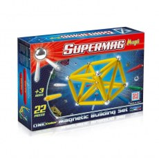 PLASTWOOD SUPERMAG MAXI MAGNETIC BUILDING SET ONE COLOR 22 PIECES