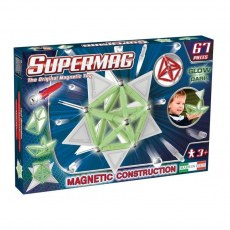 PLASTWOOD SUPERMAG MAGNETIC CONSTRUCTION TAGS GLOW 67 PIECES