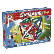 PLASTWOOD SUPERMAG MAXI CLASSIC MAGNETIC TOY 92 PIECES