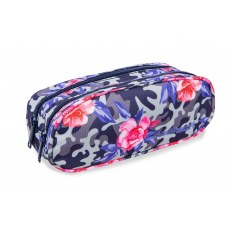 DOUBLE ZIPPERS PENCIL CASE COOLPACK CLEVER CAMO ROSES (A65209)