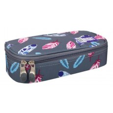 PENCIL CASE ST.RIGHT PC-02 INDIAN FEATHERS