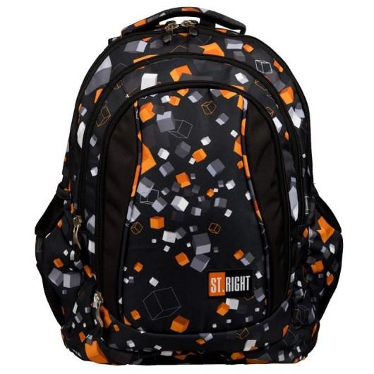 534678ccf56b8 St.Right - Plecak szkolny młodzieżowy Cubes BP-04 | Modny-Dzieciak.pl