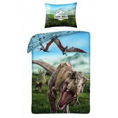 SINGLE DUVET SET 140 X 200 CM JURASSIC WORLDJW-9106BL