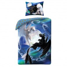 SINGLE DUVET SET 140 X 200 CM HOW TO TRAIN YOUR DRAGON HTTD-602BL