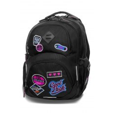 BACKPACK COOLPACK GIRLS BADGES BLACK (B19056)