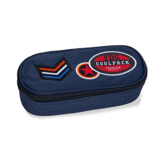 PENCIL CASE COOLPACK CAMPUS BADGES BLUE (B62053)