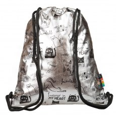STRING BACKPACK ST.RIGHT SO-11 SILVER CATS