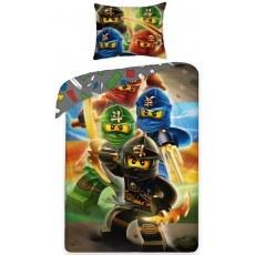SINGLE DUVET SET 140 X 200 CM LEGO NINJAGO LEGO-374BL