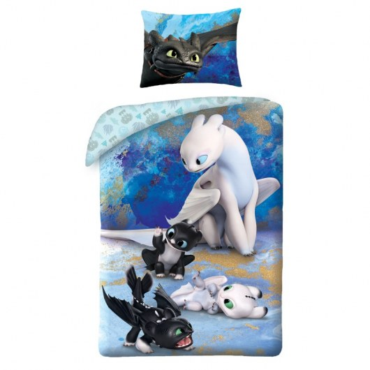 SINGLE DUVET SET 140 X 200 CM HOW TO TRAIN YOUR DRAGON HTTD-6050BL