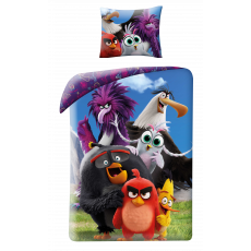 SINGLE DUVET SET 160 X 200 CM ANGRY BIRDS MOVIE 2 ABM2-115BL
