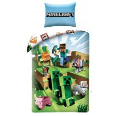 SINGLE DUVET SET 140 X 200 CM MINECRAFT LEGO MNC-129BL