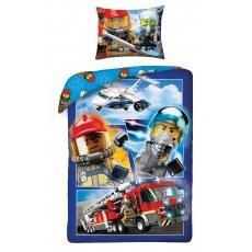 POŚCIEL BAWEŁNIANA 140 X 200 CM LEGO CITY LEGO-822BL